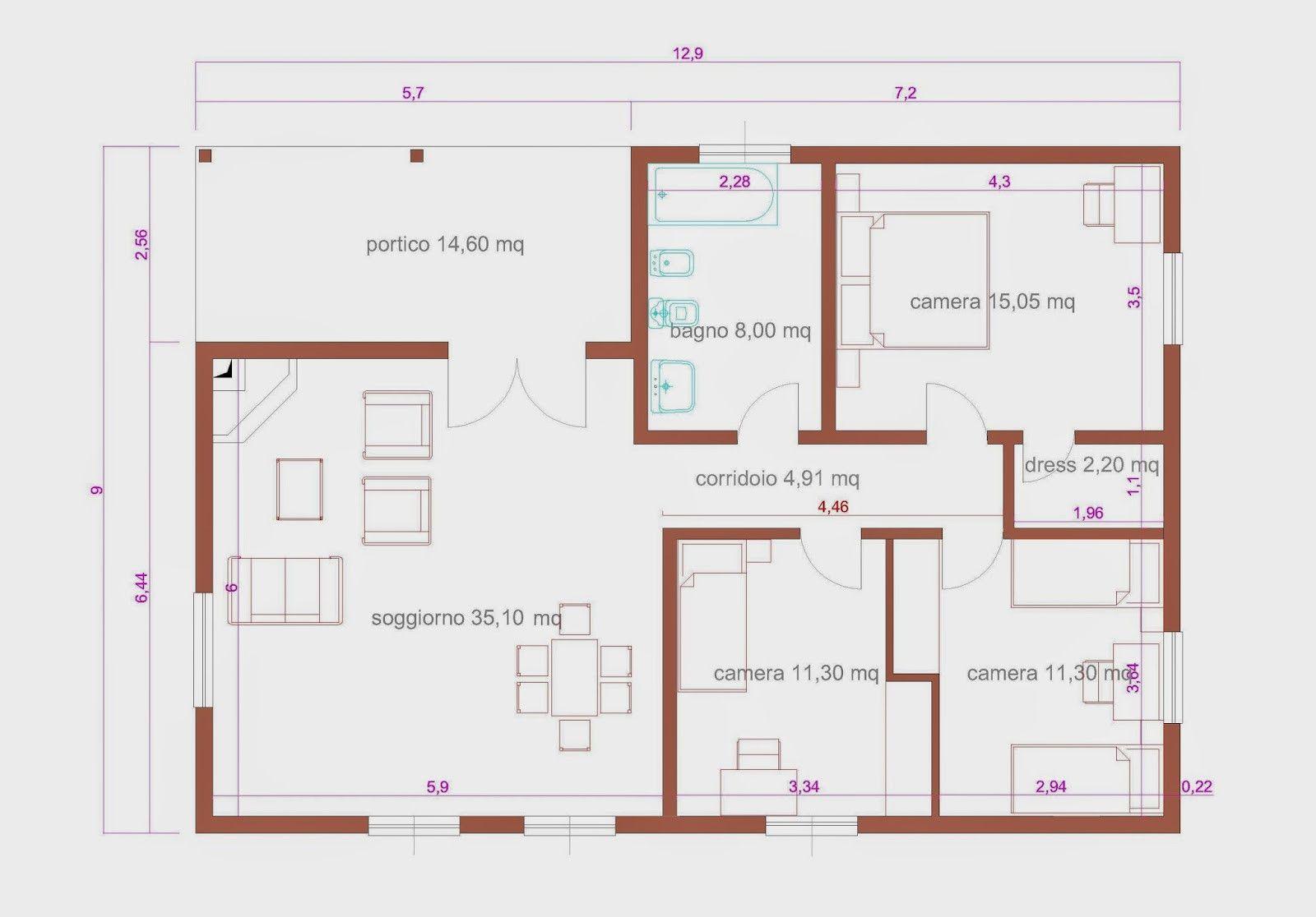 Progetti Di Case Su Un Piano Progetti Di Casa Progetto Casa Piano