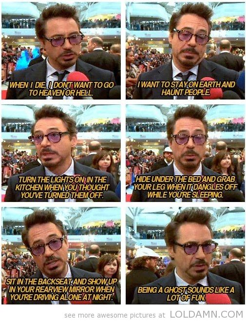 Robert Downey Jr. being himself…
