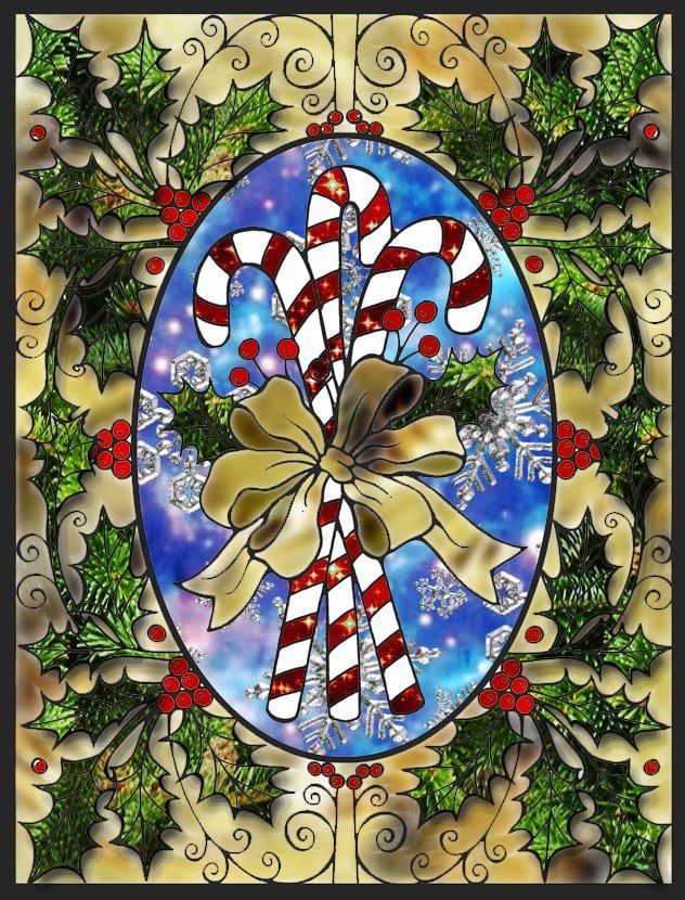Samantha Jackson Beal 18 Division From Christmas Cheer Stained Glass Coloring Book