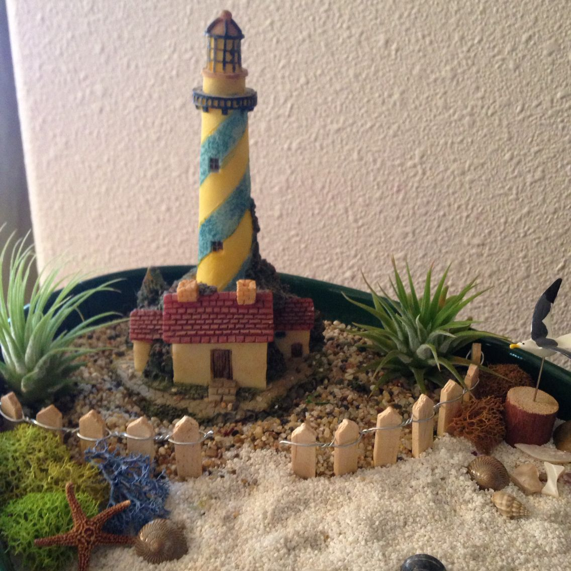 Lighthouse close up Bottles decoration, Beach gardens, Decor