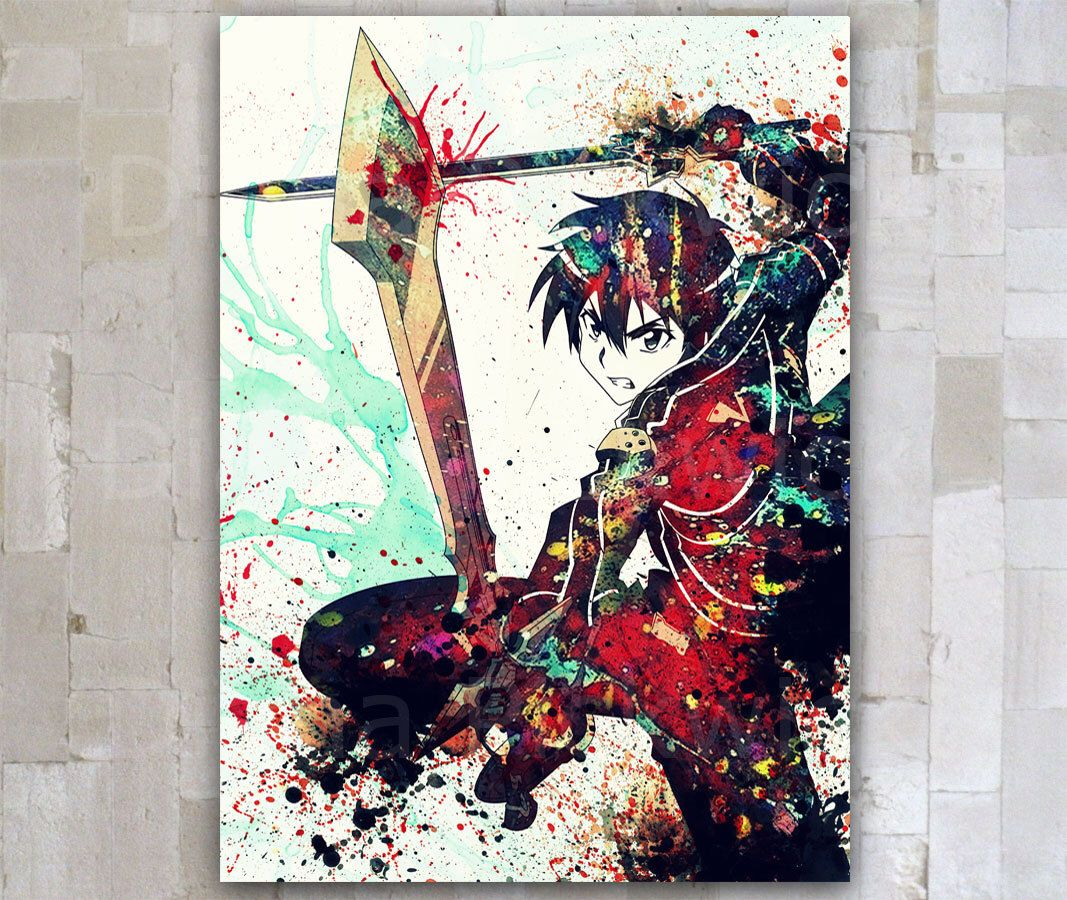 Anime Sword Art Online poster print Kirito Manga A3