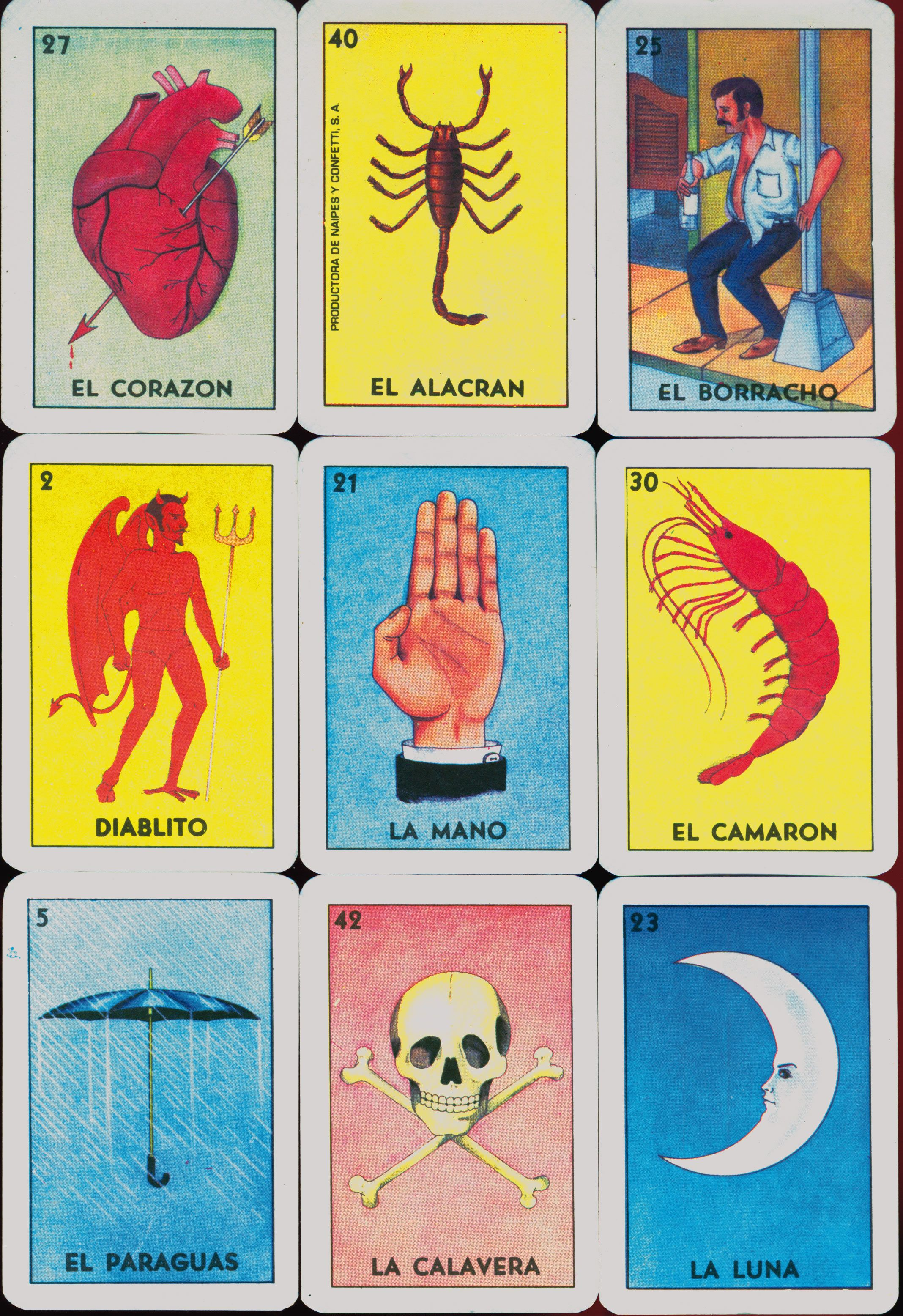 Loteria Cards, Tarot, Cards