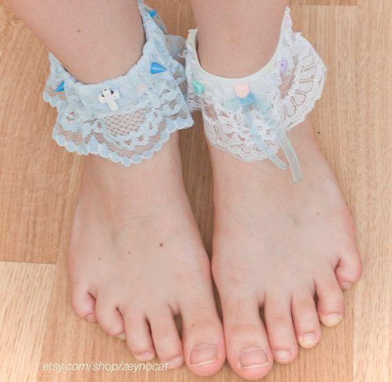 Cute Fairy Ankle Cuffs / Sock Lace by Zeynocat on Etsy