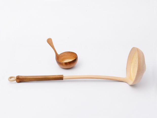 Coffee measure spoon and ladle by Kazuho Shimomoto