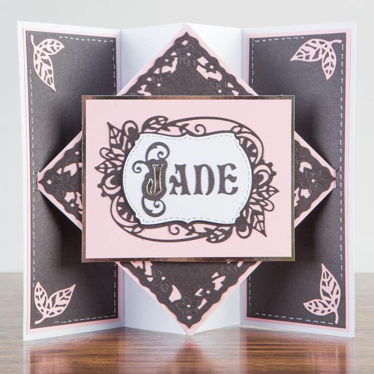 Lovely card design from @tonicstudiosuk, using the fantastic Tonic Alphabet Die Set! Shop now: http://www.createandcraft.tv/pp/tonic-alphabet-die-set-332220?referrer=search&fh_location=//CreateAndCraft/en_GB/$s=tonic%20alphabet%20die #papercraft #cardmaking