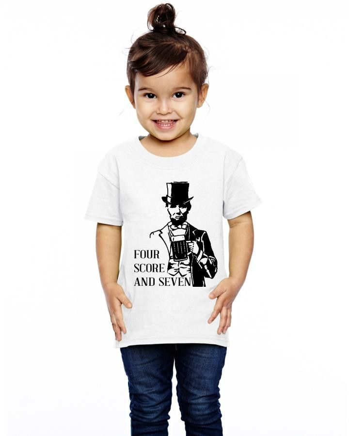 four score and seven beers ago Toddler T-shirt