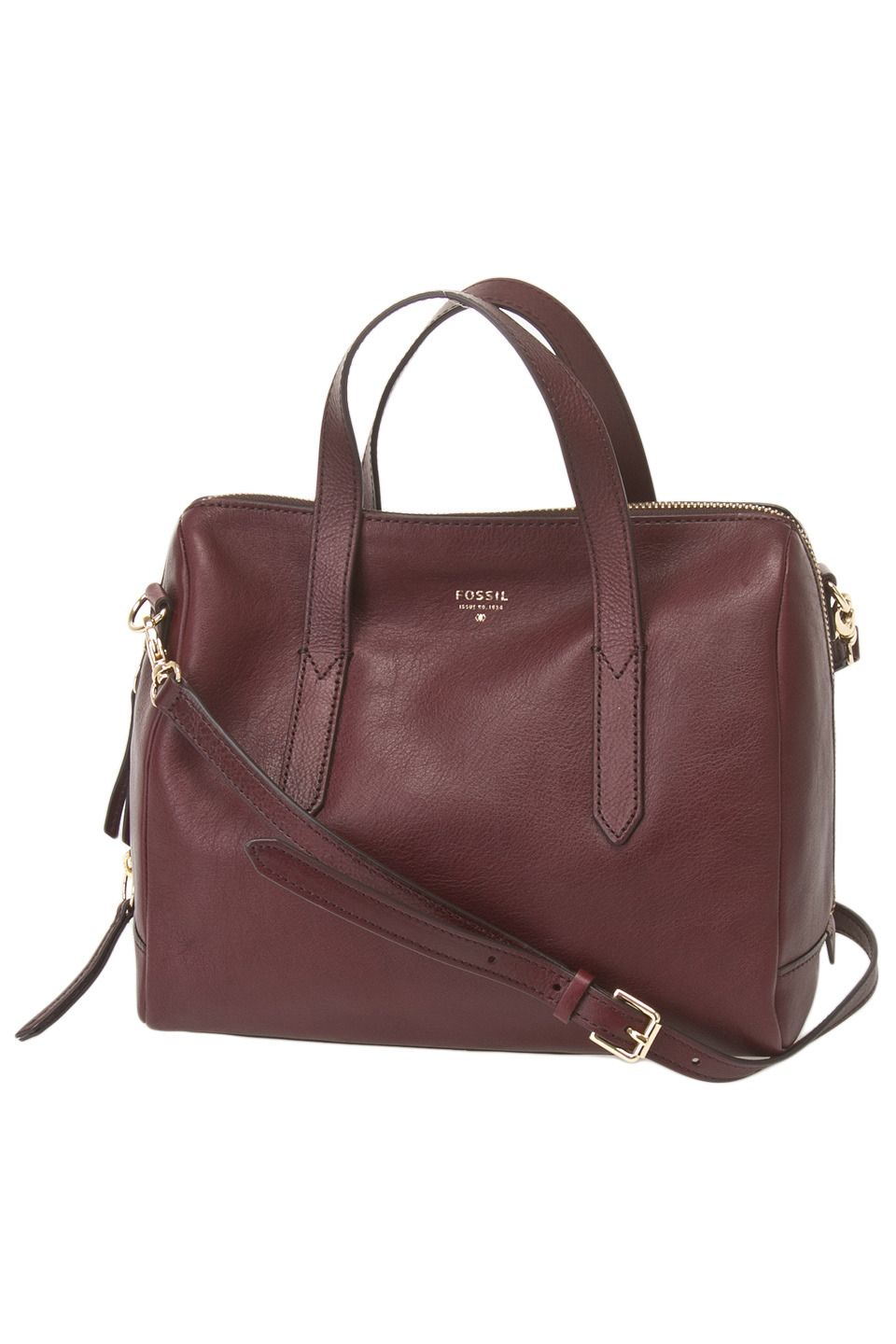 a9dba516133e Fossil - Sydney Satchel in Raisin - I wish this weren t discontinued ...