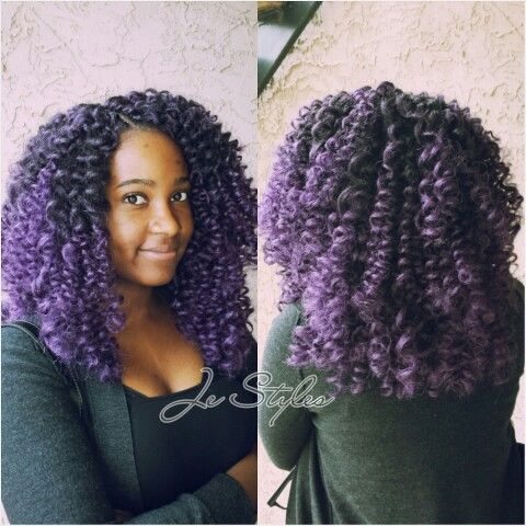 Ombre Purple Crochet Braids By Je Styles Natural Hair