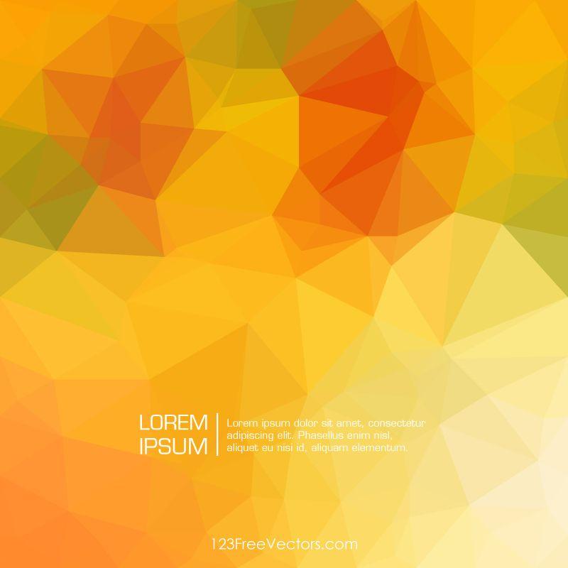 Yellow Orange Abstract Geometric Polygon Background Free