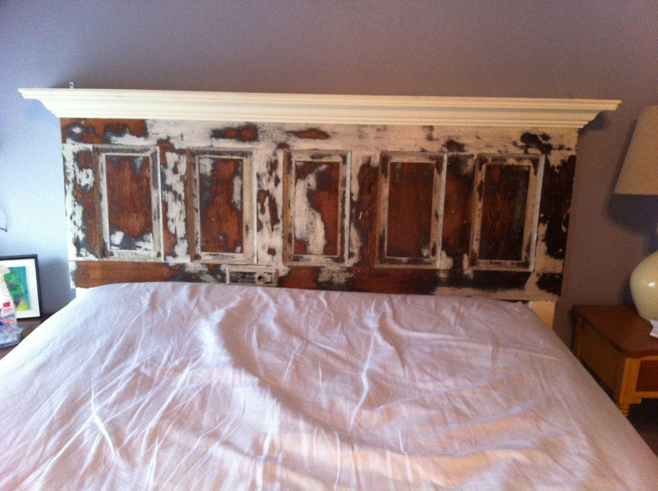 Five Panel Door Headboard King Size Distressed 80 130 Yr Old Door Headboards From Vintage