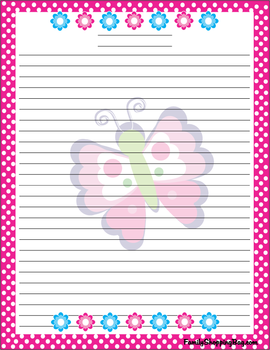 Butterfly writing paper information