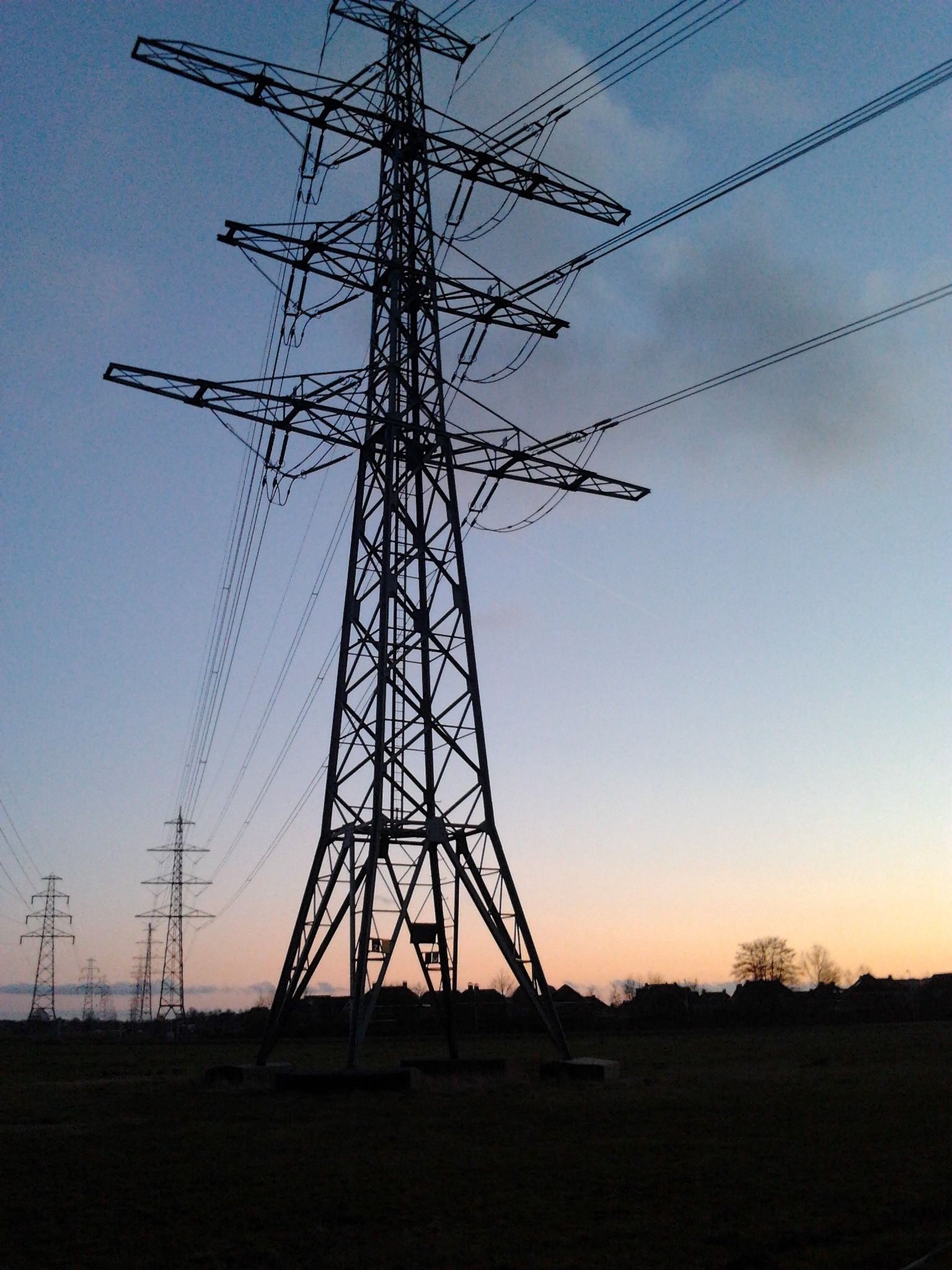 Transmission tower near Kloosterveen, Drenthe