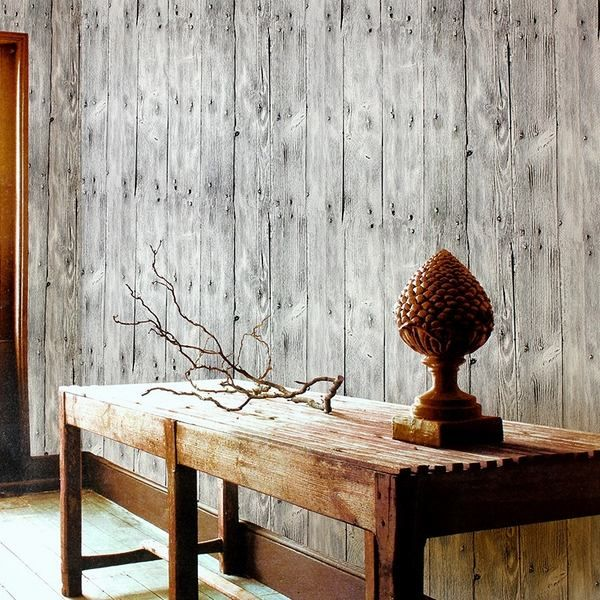 wall coverings wood planks wall decorating ideas wooden console