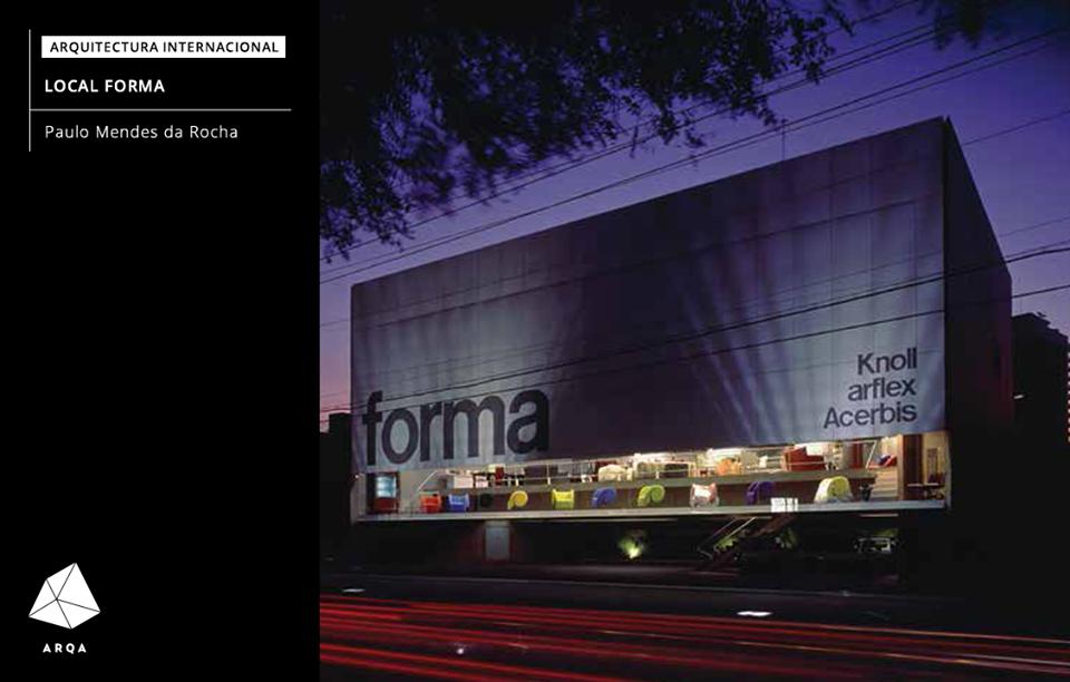 Local Forma - Paulo Mendes da Rocha  La tienda explora el recurso de una arquitectura que permite la exposición de los muebles, desde el exterior con su máxima visibilidad, y en el interior, con una mínima interferencia con el museo. Más detalles en: http://arqa.com/arquitectura/local-forma.html arquitectura | internacional