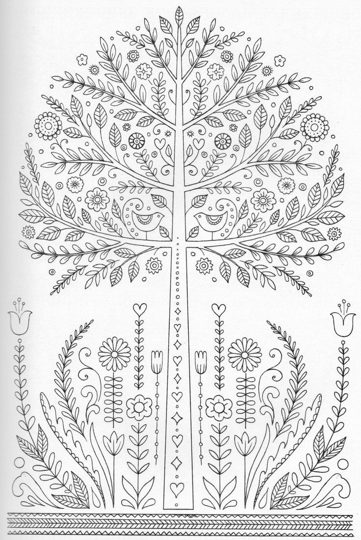 This detailed tree will be fun for your child to color and ...