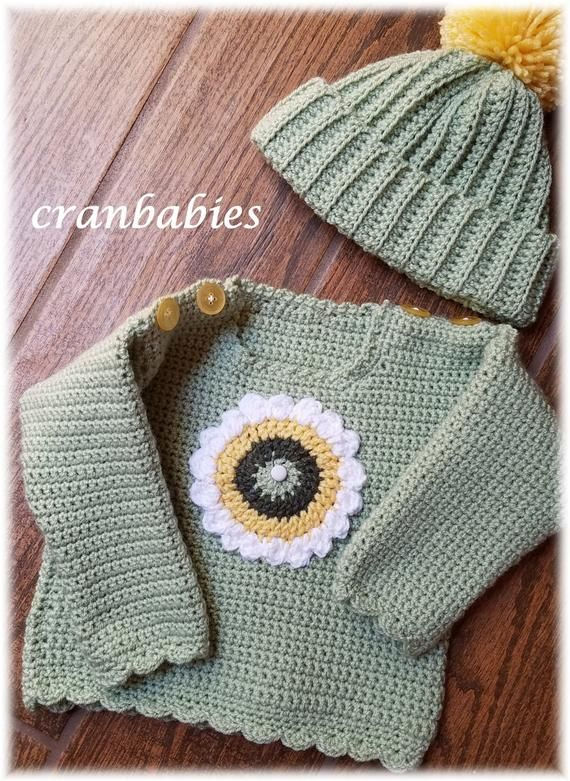 f01036bb16a Pullover baby toddler sweater.Vintage shoulder buttons. Funky Granny Smith  green w  mandala type mot