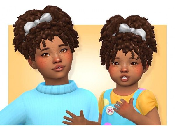Toddlers Hair Female The Sims 4 Downloads Toddler Hair Sims 4 Toddler Cc Sims 4 Sims 4 Toddler