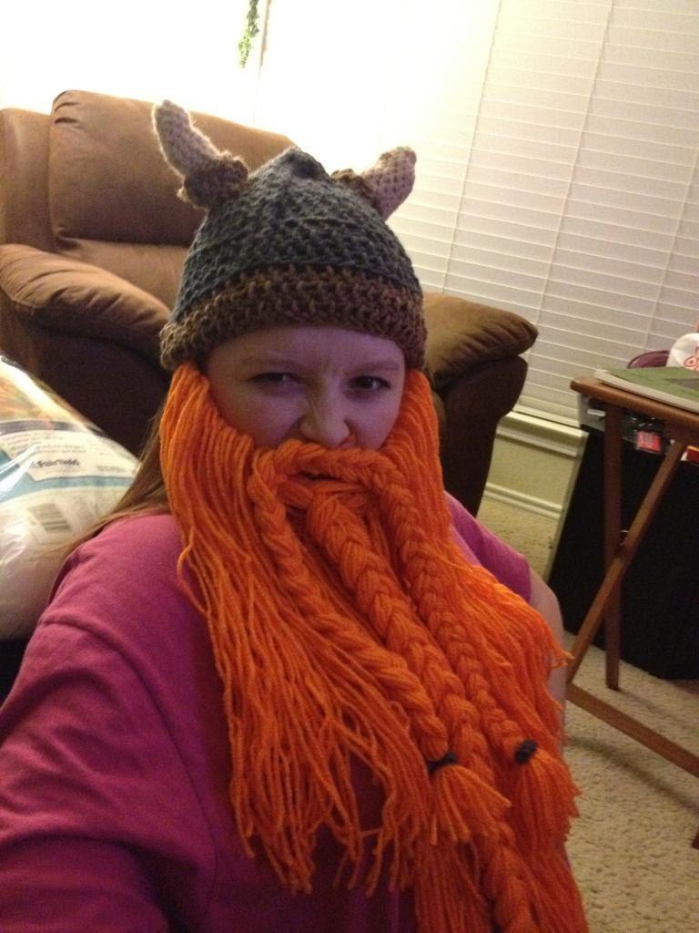 fd8a8d72c7b Made to Order Crocheted Viking Dwarf Beard and Beanie.  30.00