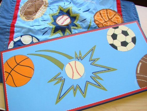 Sports Sports Sports canvas by DoodlesinBloom on Etsy, $48.00