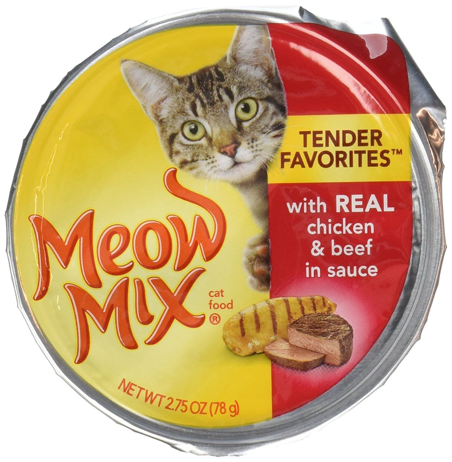 Meow Mix Cat Food Market Select With Real Chicken And Beef In Gravy 2 75oz Click Image To Review More Details Canned Cat Food Wet Cat Food Dog Food Online
