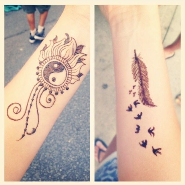 Cool Henna Design Feather Step By Step