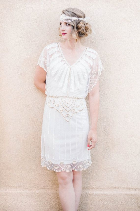 0cd323d9fa8 ... Gatsby glam for your bridal party with these gorgeous flapper-inspired  looks. This 1920s-themed wedding dress is cute and affordable!
