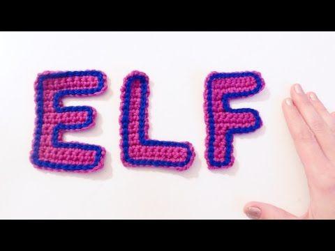 Aprende a tejer las letras a crochet. Tutoriales paso a paso ...