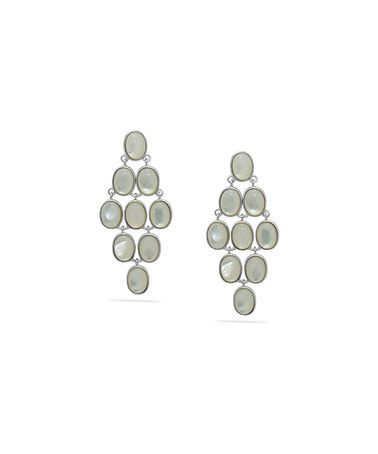 Sterling Silver & Mother Of Pearl Chandelier Earrings #zulily #zulilyfinds