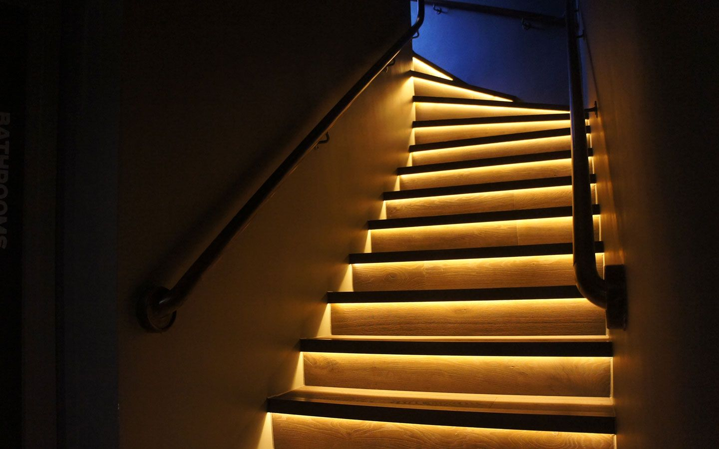 Wonderful LED Strip Used To Illuminate The Stairs Colours Range From: 2200K, 2400K,  2700Km
