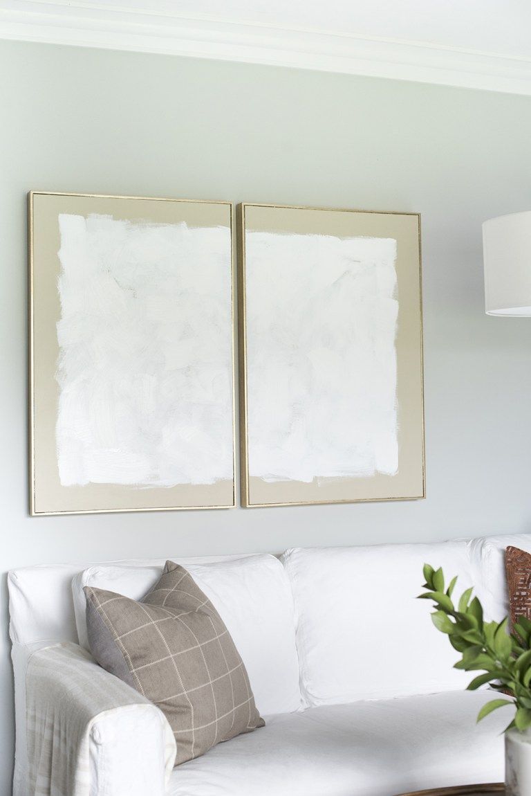 DIY Abstract Diptych Art - roomfortuesday.com