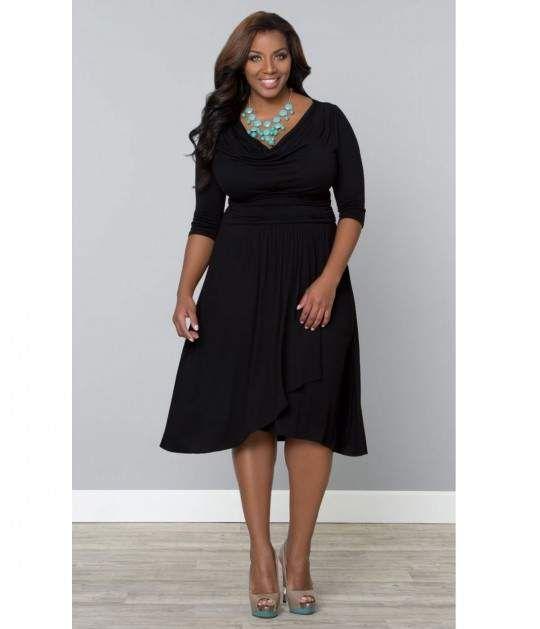 Quarter sleeve dresses plus size