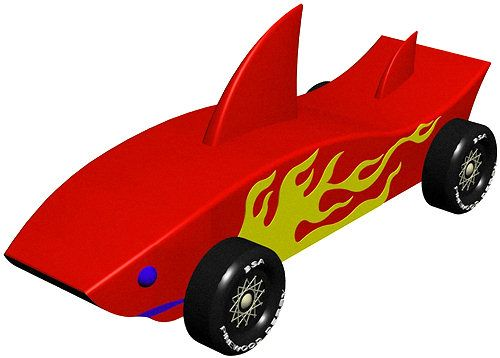 Shark - INSTANT DOWNLOAD - pinewood derby car design scouting and