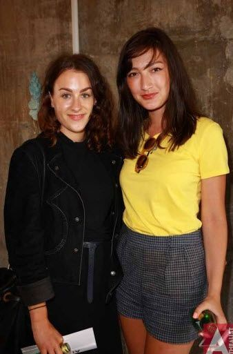 Media Launch of #Fashion in the Big Little City, Silo Park, L to R, Claudia Innes and Maddy Budd, February 19th 2013.