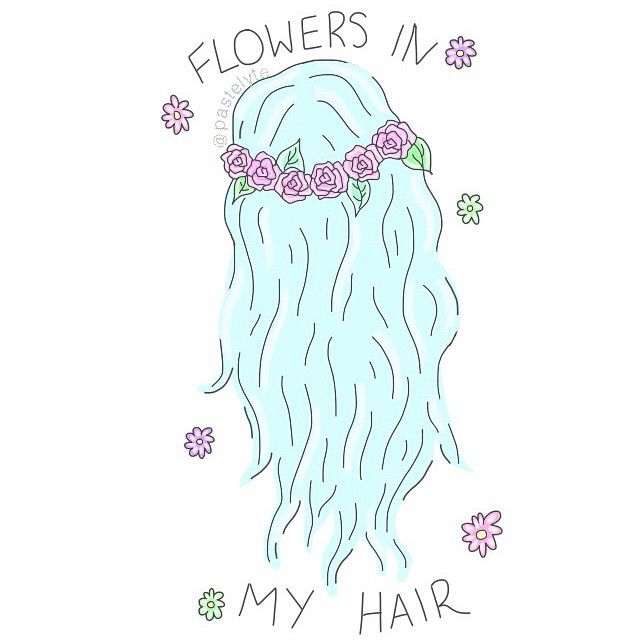 Got a pastel pink white blue and purple flower crown today❤ id ...