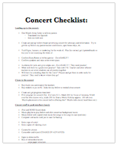 concert planning template - downloads music teachers classroom organization and teacher