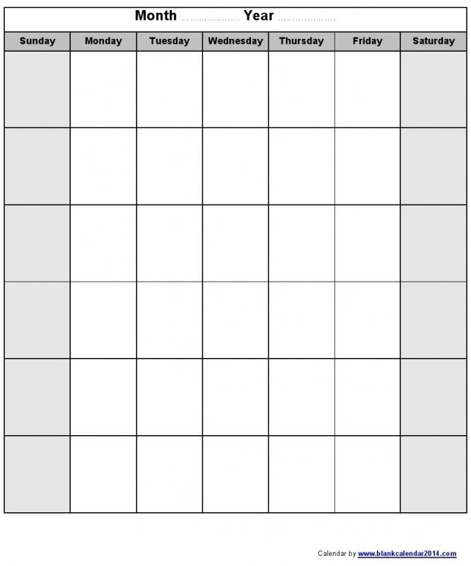 Monthly Calendar Template Printable Calendars Blank For Mac Pages