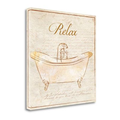 Tangletown Fine Art 'Romantic Bath Relax' by Piper Ballantyne Graphic Art on Wrapped Canvas