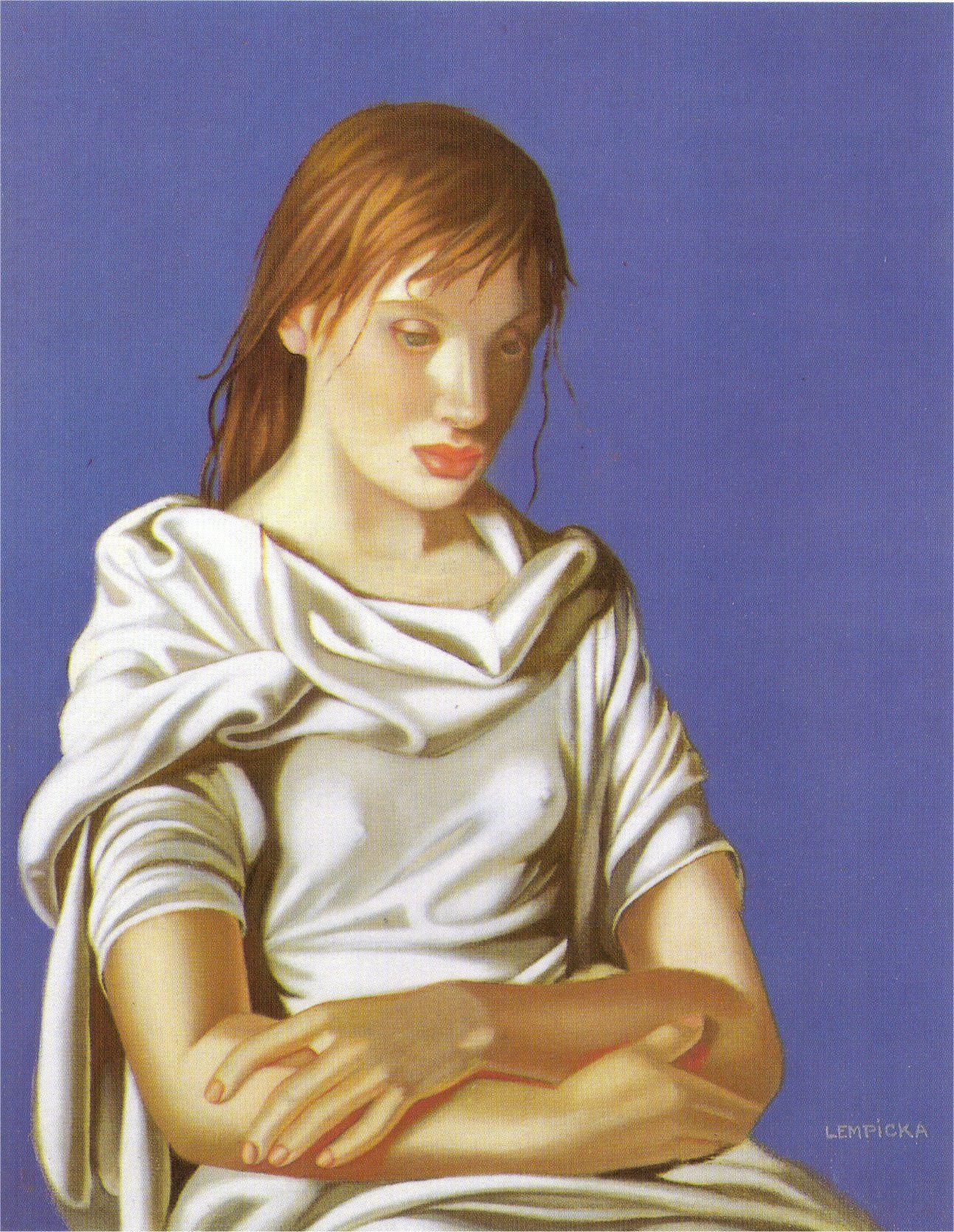 met-art-tamara-d Young Lady with Crossed Arms - Tamara de Lempicka 1939