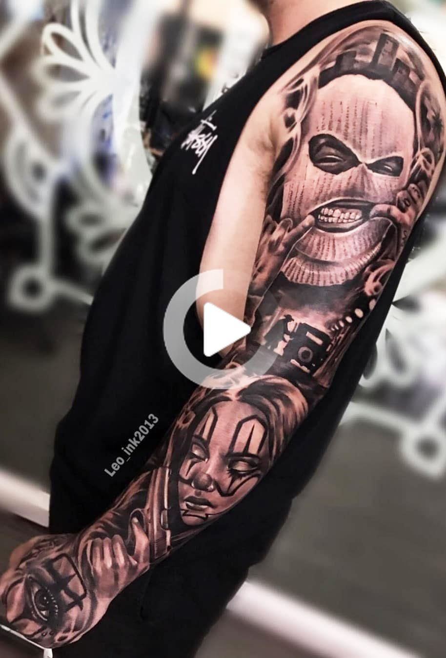80 Male Closed Arm Tattoos For Inspiration Toptatuagens In 2020 Gangster Tattoos Gangsta Tattoos Hand Tattoos For Guys