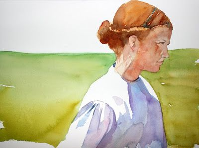 laura's watercolors: Mel Stabin workshop: last day