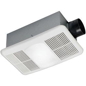 Utilitech 1 5 Sone 80 Cfm White Bathroom Fan With Heater
