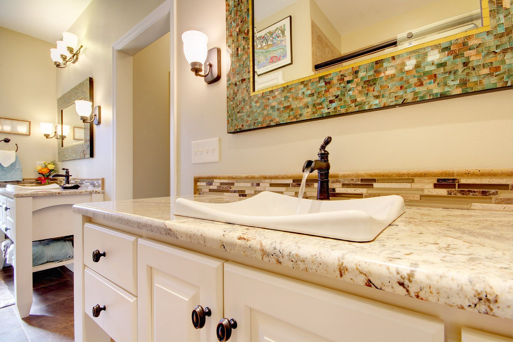 A Bathroom Remodel In Pensacola Florida Results In A