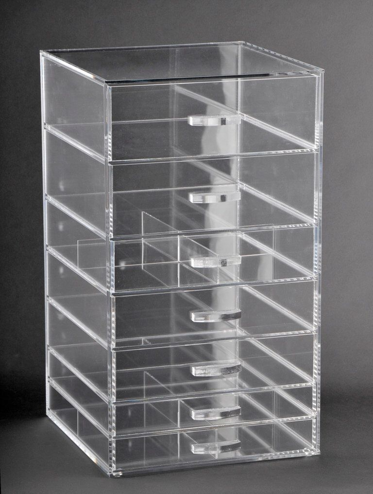 Glamourebox Clear Cosmetic Cube Storage Organizer Case 7 Etsy In 2020 Makeup Storage Organization Makeup Organization Cube Organizer