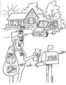 Post Office Coloring Pages For Kids Bing Images Crafts