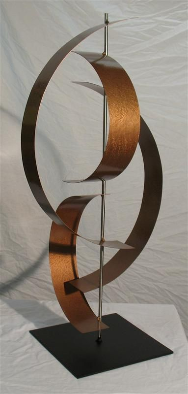 Contemporary Metal Sculpture Stainless Steel And Copper