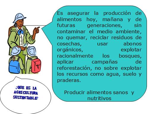 Definición de terminos sobre agricultura orgánica para niños.