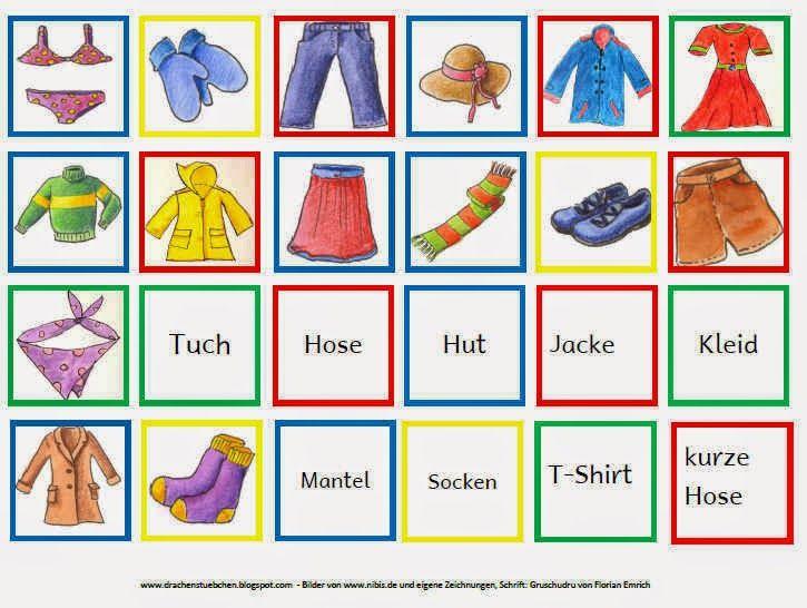 drachenst bchen kleidungs memo spiel zaidimai deutsch lernen kinder spiele grundschule und. Black Bedroom Furniture Sets. Home Design Ideas