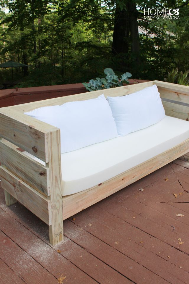 Outdoor DIY Sofa Build Plans - Outdoor Furniture Build Plans Woodworking Projects Pinterest