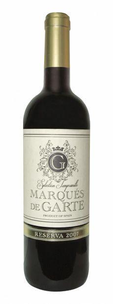 Marques De Garte Reserva Botellas De Vino Y Disenos De Unas