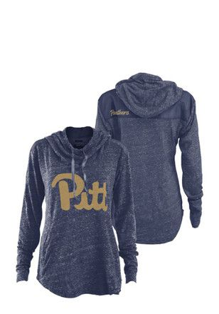 really cheap new photos entire collection Pitt Panthers Womens Navy Blue Hillrise Hoodie | Sweatshirts ...